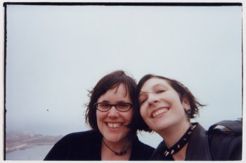 E.V (on the right) with friend Liz Riley